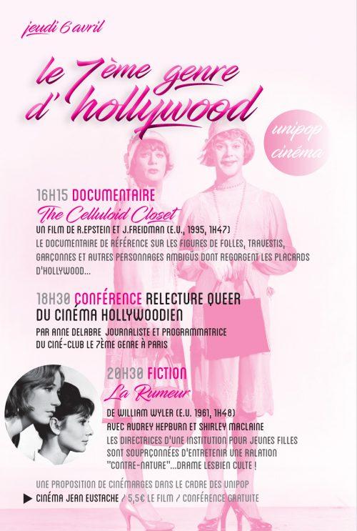 affiche-le7egenre-à-hollywood-conférence-pessac